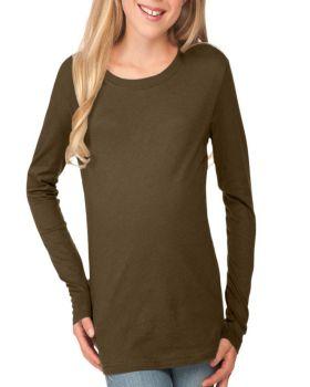 Kavio YJC0264 Girl's Crew Neck Long Sleeve Top