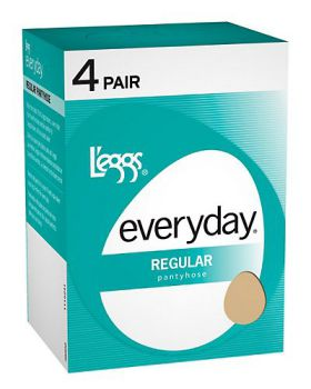 L'eggs 39500 Women's Everyday Regular St 4 Pair