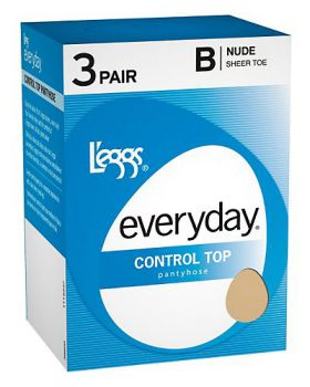 L'eggs 39600 Women's Everyday Control Top St 3 Pair