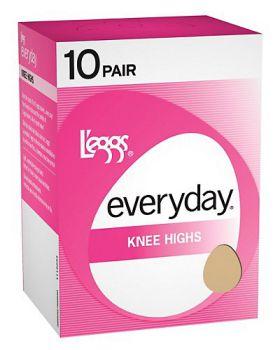 L'eggs 39900 Women's Everyday Knee Highs Rt 10 Pair