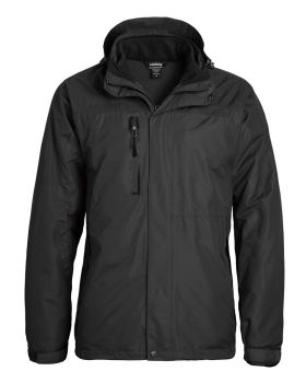 Landway 7758 Men's Detachable 3 Panel Hooded Fleece Parka