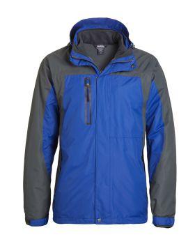 'Landway 7758 Men's Detachable 3 Panel Hooded Fleece Parka'