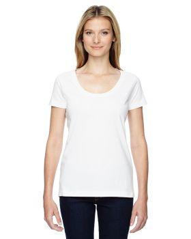 LAT 3504 Ladies' Scoop Neck Fine Jersey T-Shirt