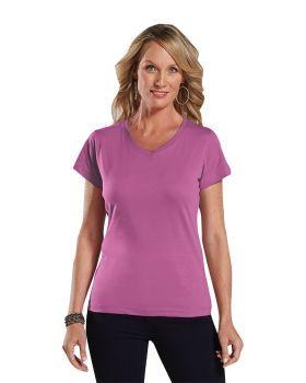 'LAT 3507 Ladies' V-Neck Fine Jersey T-Shirt'