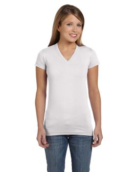 LAT 3607 Junior Fit V-Neck Fine Jersey Tee