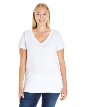 LAT 3807 Curvy Collection Women's Premium Jersey V-Neck Tee