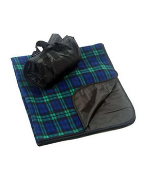 Liberty Bags 8702 Fleece/Nylon Plaid Picnic Blanket