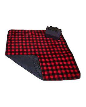 Liberty Bags 8702 Fleece/Nylon Plaid Picnic Blanket