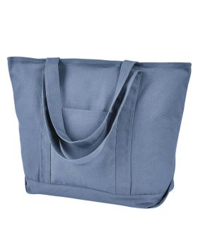 Liberty Bags 8879 Seaside Cotton Pigment-Dyed XL Canvas Boat Tote