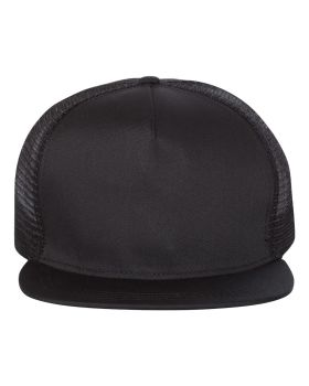 Mega Cap 6997C Flat Bill Five-Panel Trucker Cap