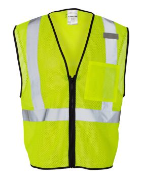 ML Kishigo 1519-1520 Class 2 Economy Vest with Zipper Front