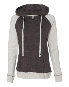 Mv Sport W17127 Women's Harper Raglan Hooded Pullover Sweatshirt