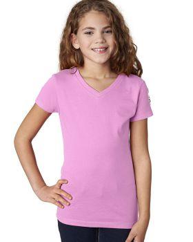 Next Level 3740 Girls' Premium Jersey The Adorable V
