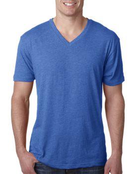 'Next Level 6040 Men's Cotton Polyester Rayon Triblend V Neck T-Shirt'