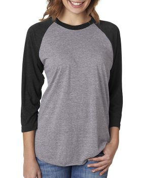 'Next Level 6051 Unisex Triblend 3/4-Sleeve Raglan T-Shirt'