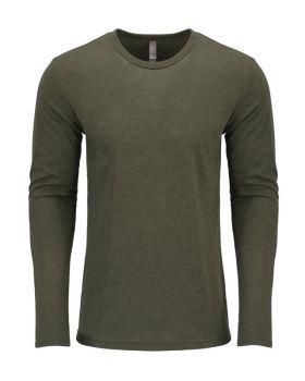 Next Level 6071 Men's Triblend Long Sleeve Crewneck T-Shirt