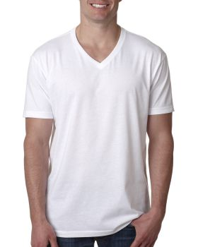 Next Level 6240 Fitted CVC V Neck 4.3 oz Cotton Polyester T-Shirt