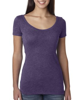 Next Level 6730 Ladies Rayon Triblend Cotton Scoop T-Shirt