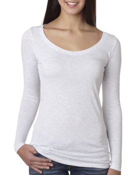 Next Level 6731 Ladies Triblend Long Sleeve Scoop T-Shirt