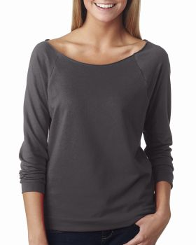 'Next Level 6951 Ladies French Terry 3/4-Sleeve Raglan T-Shirt'