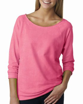 Next Level 6951 Ladies' French Terry 3/4-Sleeve Raglan