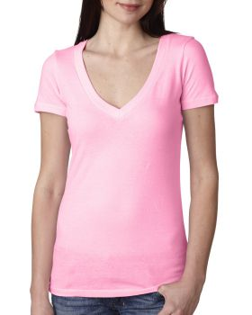 Next Level N3540 Women Deep V-Neck Tee