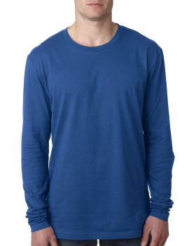 Next Level N3601 Men's Long Sleeve Cotton Crewneck T-Shirt
