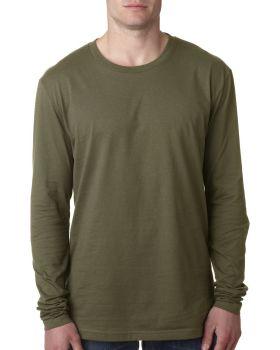 Next Level N3601 Men's Long Sleeve Cotton Crewneck T-Shirt