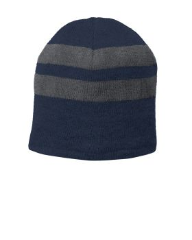 Port & Company C922 FleeceLined Striped Beanie Cap