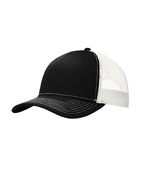 Port Authority C112 Snapback Mid Profile Trucker Cap