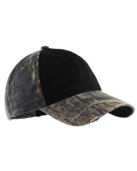 Port Authority C807 Camo Cap with Contrast Front Panel