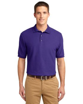Port Authority K500 Silk Touch Polo Flat Knit Collar and Cuffs