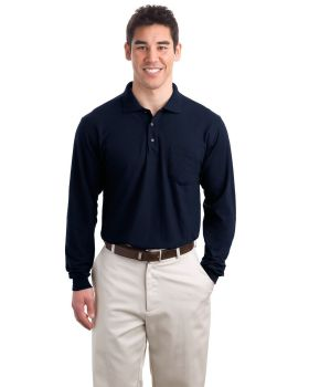 Port Authority K500LSP Silk Touch Long Sleeve Sport Shirt with Pocket