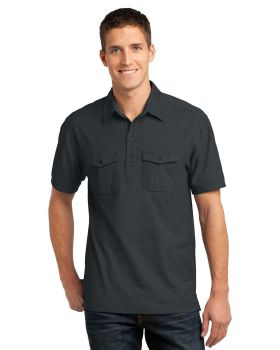 Port Authority K557 Oxford Pique Double Pocket Polo Shirt