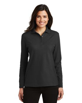 Port Authority L500LS Ladies Silk Touch Long Sleeve Sport Shirt