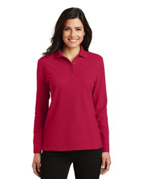 Port Authority L500LS Ladies Silk Touch Long Sleeve Sport Shirt