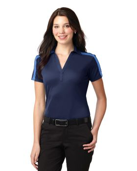 Port Authority L547 Ladies Silk Touch Performance Colorblock Stripe Polo