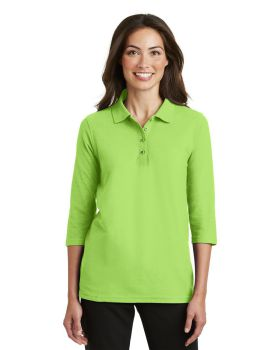 Port Authority L562 Ladies Silk Touch 3/4-Sleeve Sport Shirt
