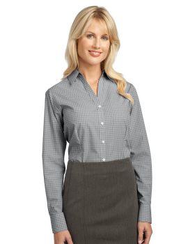 Port Authority L639 Ladies Plaid Pattern Easy Care Shirt