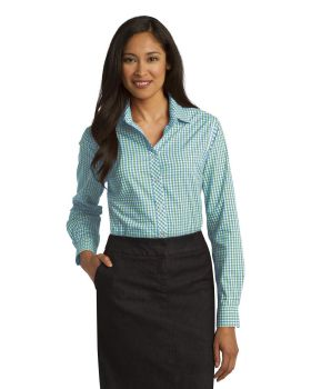 Port Authority L654 Ladies Long Sleeve Gingham Easy Care Shirt
