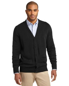 Port Authority SW302 Value V Neck Cardigan with Pockets Sweater