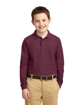 Port Authority Y500LS Youth Silk Touch Long Sleeve Sport Shirt