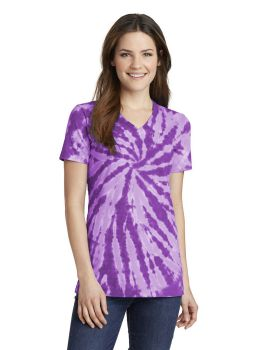 Port & Company LPC147V Ladies Tie-Dye V Neck T-Shirt
