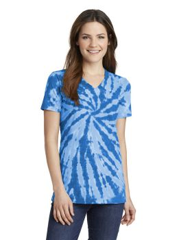 Port & Company LPC147V Ladies Tie-Dye V-Neck Tee