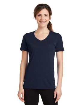 Port & Company LPC381V Ladies Performance Blend V-Neck Tee