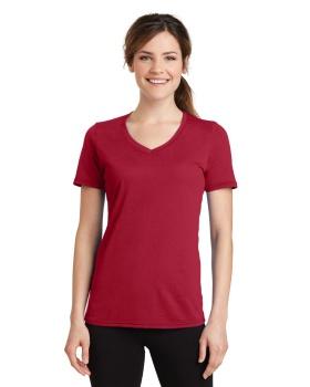 Port & Company LPC381V Ladies Performance Blend V Neck T-Shirt
