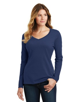 Port & Company LPC450VLS Ladies Long Sleeve Fan Favorite V-Neck Tee