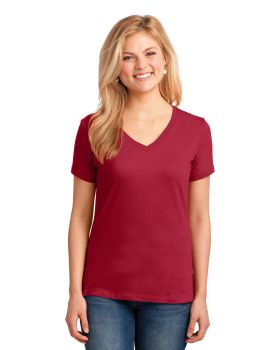 Port & Company LPC54V Ladies Core Cotton V Neck T-Shirt