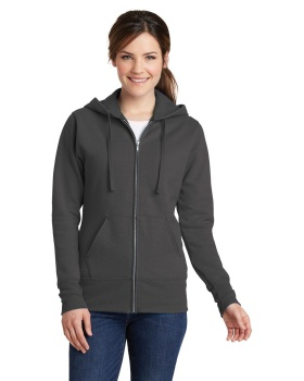 Port & Company LPC78ZH Ladies Core Fleece Full-Zip Hooded Sweatshirt