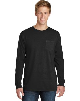 Port & Company PC099LSP Pigment-Dyed Long Sleeve Pocket Tee